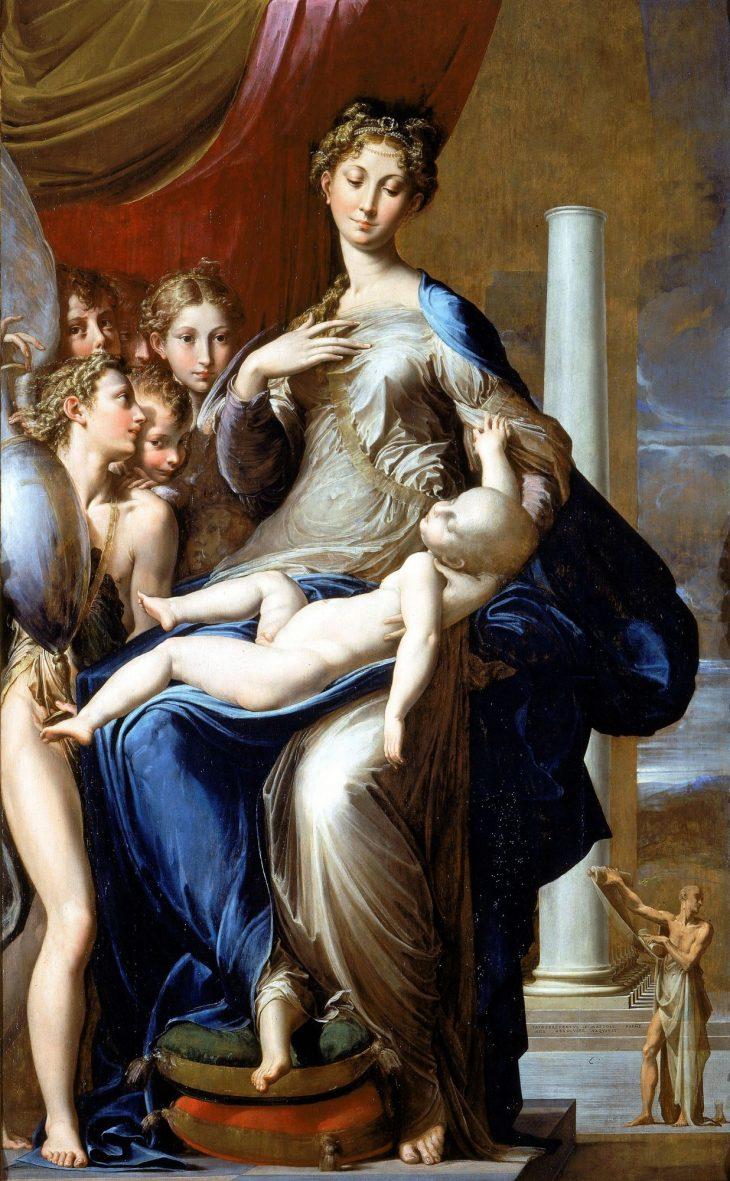 Parmigianino Virgen del cuello largo 1534 35