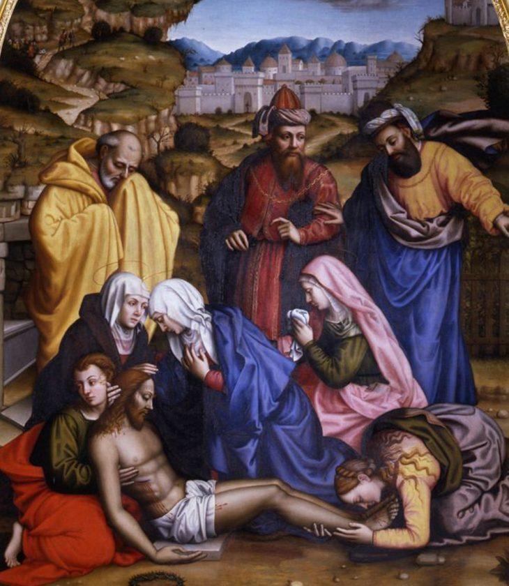 Sor Plautilla Nelli Lamentación con los santos 1569