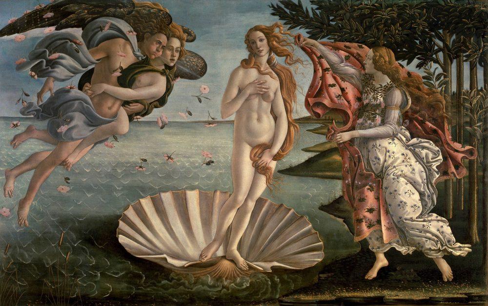 Botticelli Nacimiento de Venus 1484 86