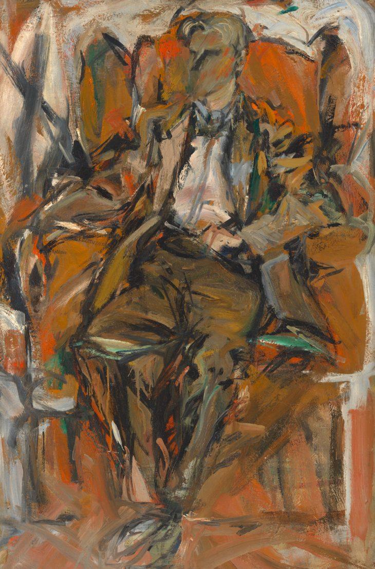 Elaine de Kooning Retrato de Willem de Kooning 1952