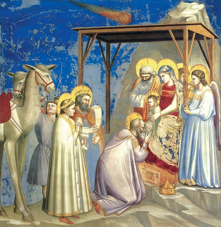 Giotto Adoración de los Magos