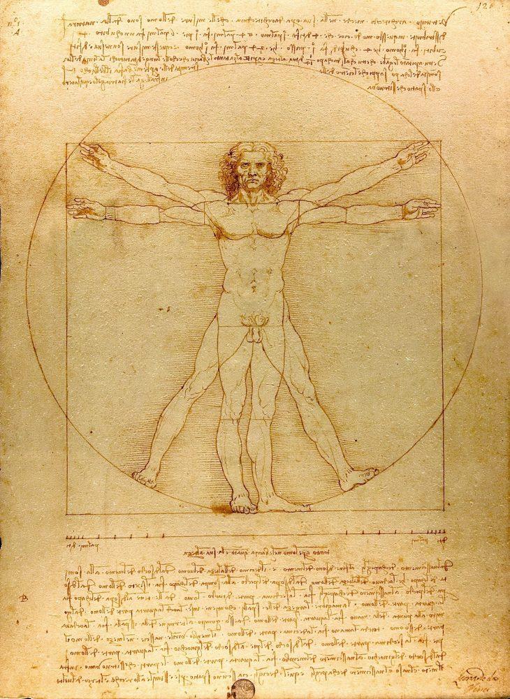 El hombre de Vitruvio 1490